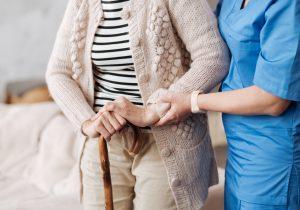 Gentle,Trained,Nurse,Helping,Mature,Patient